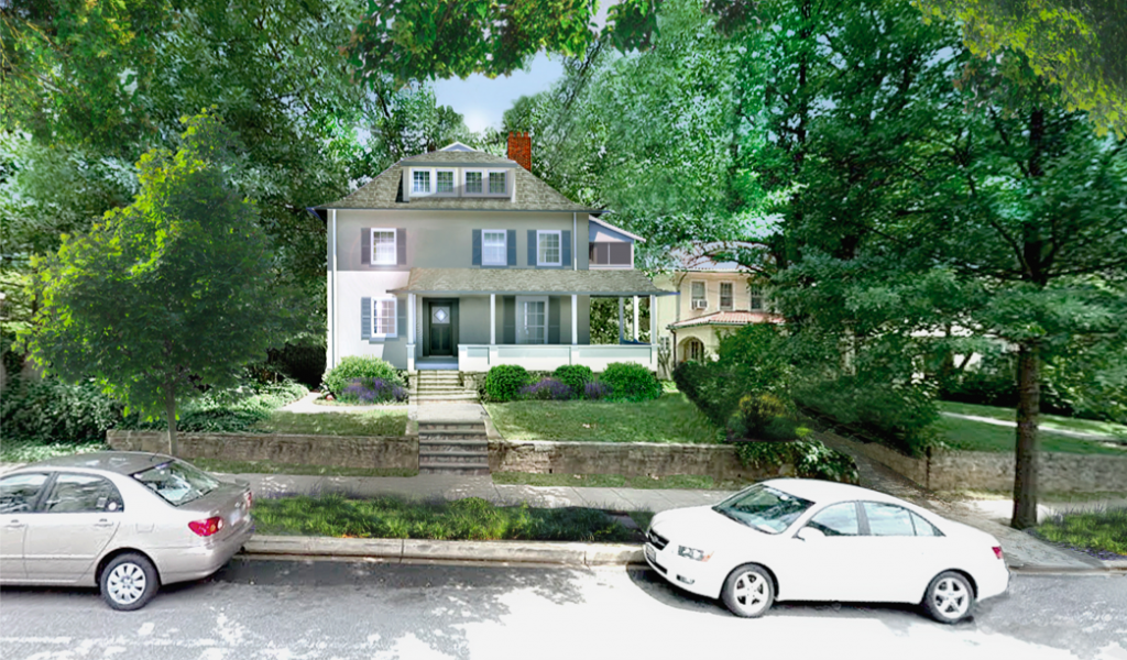 Rendering of 3515 Woodley reconstructed